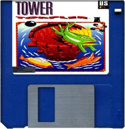 Cartridge artwork for Tower Toppler on the Commodore Amiga.