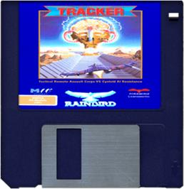 Cartridge artwork for Tracker on the Commodore Amiga.