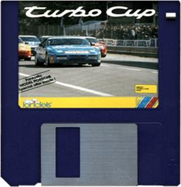 Cartridge artwork for Turbo Cup on the Commodore Amiga.