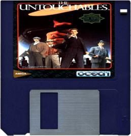 Cartridge artwork for Untouchables on the Commodore Amiga.