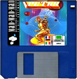 Cartridge artwork for Vector Ball on the Commodore Amiga.