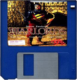 Cartridge artwork for Warlords on the Commodore Amiga.
