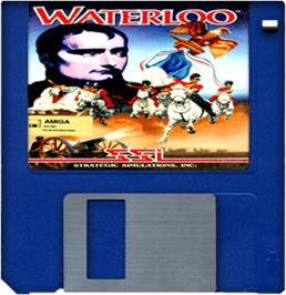 Cartridge artwork for Waterloo on the Commodore Amiga.