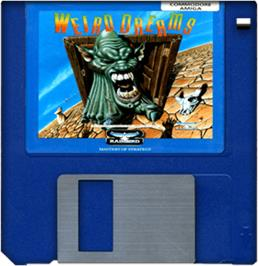 Cartridge artwork for Weird Dreams on the Commodore Amiga.