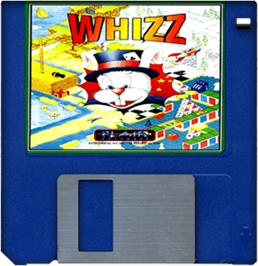 Cartridge artwork for Whizz on the Commodore Amiga.