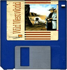 Cartridge artwork for Wild West World on the Commodore Amiga.