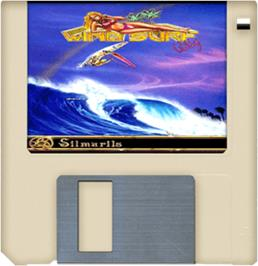Cartridge artwork for Windsurf Willy on the Commodore Amiga.