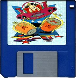 Cartridge artwork for X-It on the Commodore Amiga.