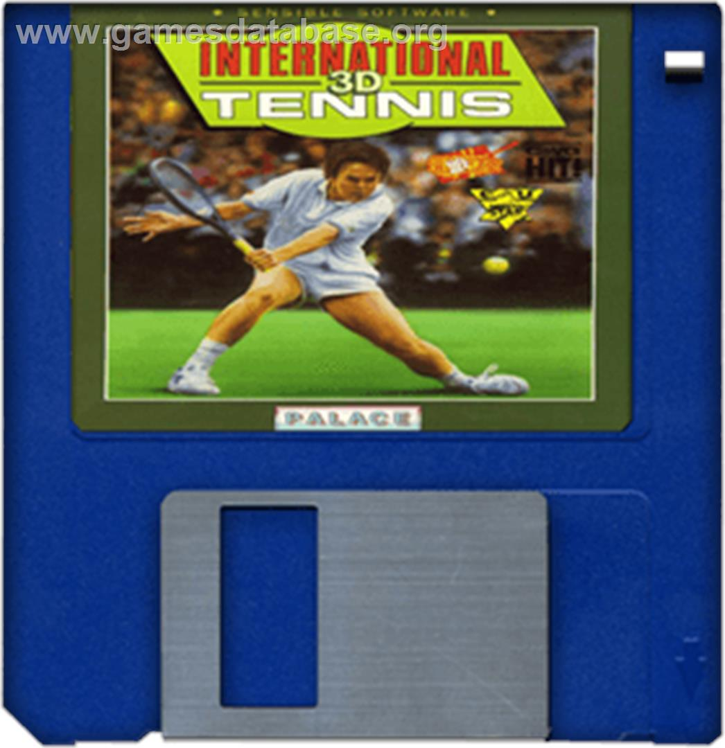 International 3D Tennis - Commodore Amiga - Artwork - Cartridge