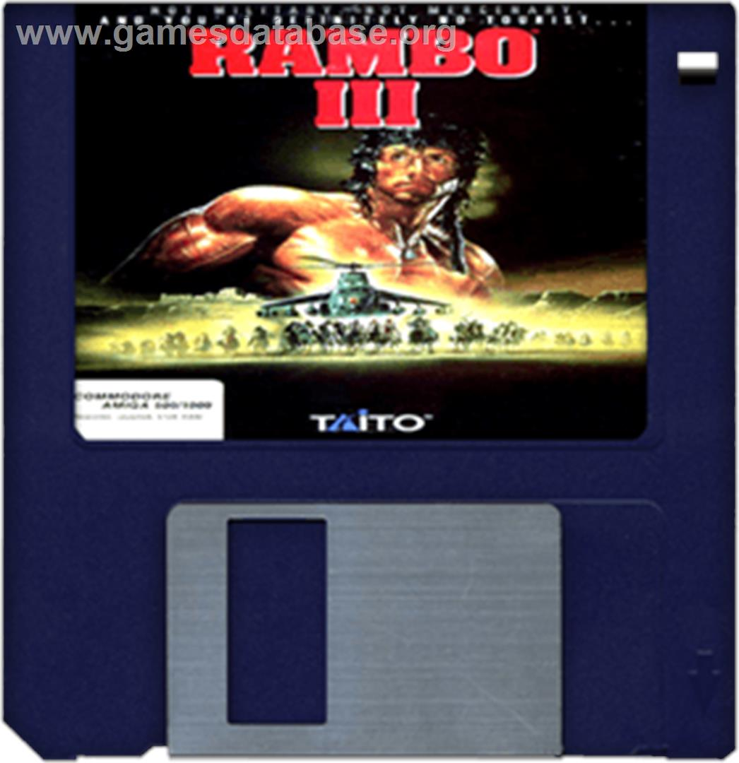 Rambo III - Commodore Amiga - Artwork - Cartridge