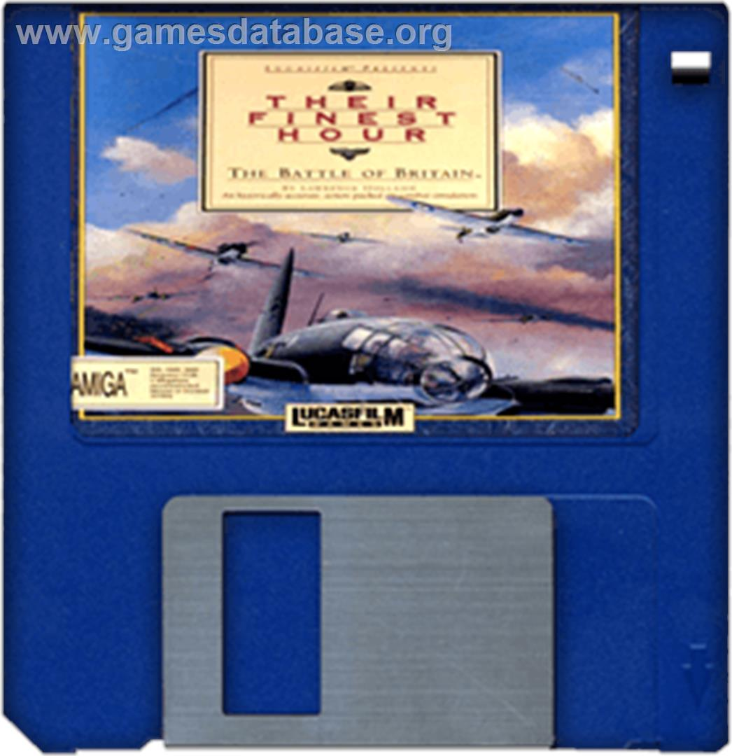 Their Finest Hour: The Battle of Britain - Commodore Amiga - Artwork - Cartridge