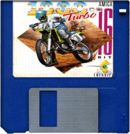 Artwork on the Disc for 1000cc Turbo on the Commodore Amiga.
