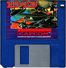 Artwork on the Disc for 1943: The Battle of Midway on the Commodore Amiga.