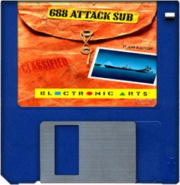 Artwork on the Disc for 688 Attack Sub on the Commodore Amiga.