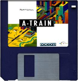 Artwork on the Disc for A-Train on the Commodore Amiga.