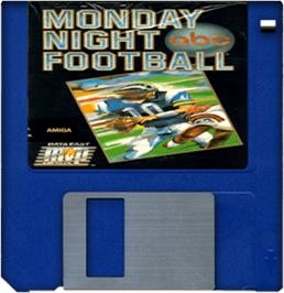Artwork on the Disc for ABC Monday Night Football on the Commodore Amiga.