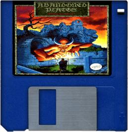 Artwork on the Disc for Abandoned Places: A Time for Heroes on the Commodore Amiga.
