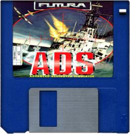 Artwork on the Disc for Advanced Destroyer Simulator on the Commodore Amiga.