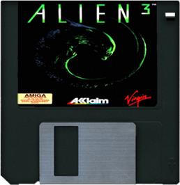 Artwork on the Disc for Alien³ on the Commodore Amiga.