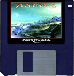 Artwork on the Disc for Amnios on the Commodore Amiga.