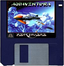 Artwork on the Disc for Aquaventura on the Commodore Amiga.