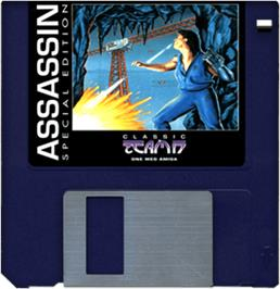 Artwork on the Disc for Assassin Special Edition on the Commodore Amiga.