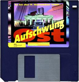 Artwork on the Disc for Aufschwung Ost on the Commodore Amiga.