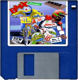 Artwork on the Disc for BMX Simulator on the Commodore Amiga.