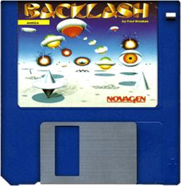 Artwork on the Disc for Backlash on the Commodore Amiga.