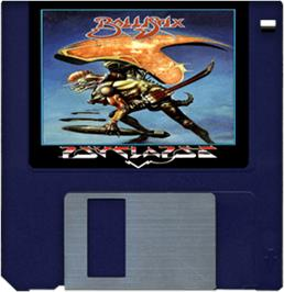 Artwork on the Disc for Ballistix on the Commodore Amiga.