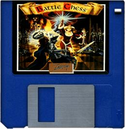 Artwork on the Disc for Battle Chess on the Commodore Amiga.