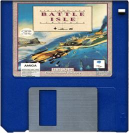 Artwork on the Disc for Battle Isle on the Commodore Amiga.