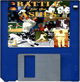 Artwork on the Disc for Battle for the Ashes on the Commodore Amiga.