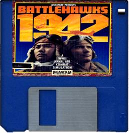 Artwork on the Disc for Battlehawks 1942 on the Commodore Amiga.