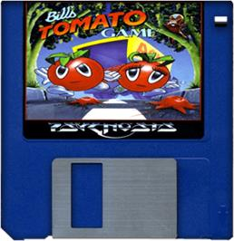 Artwork on the Disc for Bill's Tomato Game on the Commodore Amiga.