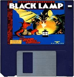 Artwork on the Disc for Black Lamp on the Commodore Amiga.