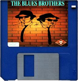 Artwork on the Disc for Blues Brothers on the Commodore Amiga.