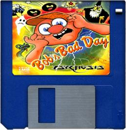 Artwork on the Disc for Bob's Bad Day on the Commodore Amiga.