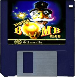 Artwork on the Disc for Boston Bomb Club on the Commodore Amiga.