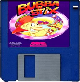 Artwork on the Disc for Bubba 'n' Stix on the Commodore Amiga.