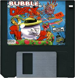 Artwork on the Disc for Bubble Dizzy on the Commodore Amiga.