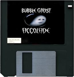 Artwork on the Disc for Bubble Ghost on the Commodore Amiga.