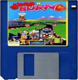 Artwork on the Disc for Bump 'n' Burn on the Commodore Amiga.