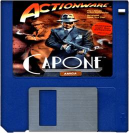 Artwork on the Disc for Capone on the Commodore Amiga.