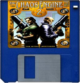 Artwork on the Disc for Chaos Engine 2 on the Commodore Amiga.