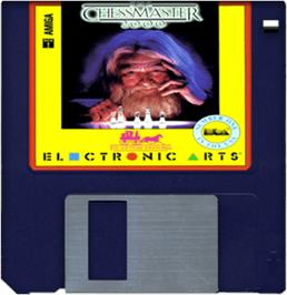 Artwork on the Disc for Chessmaster 2000 on the Commodore Amiga.