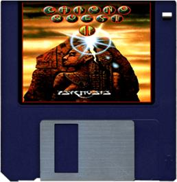 Artwork on the Disc for Chrono Quest 2 on the Commodore Amiga.