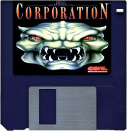 Artwork on the Disc for Corporation on the Commodore Amiga.