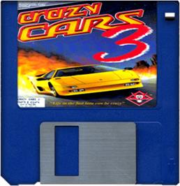 Artwork on the Disc for Crazy Cars 3 on the Commodore Amiga.