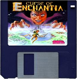 Artwork on the Disc for Curse of Enchantia on the Commodore Amiga.